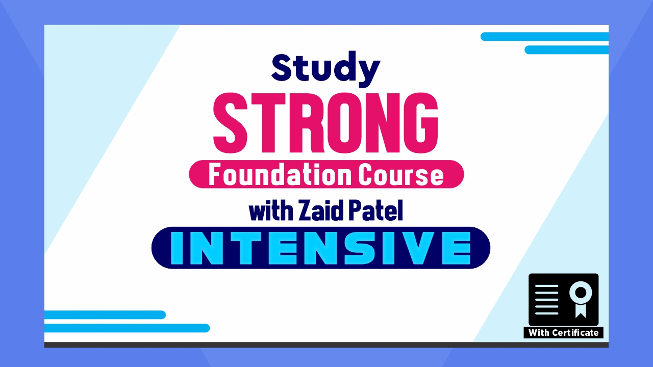 Intensive - Strong Foundation Course - Roman
